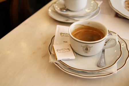 Why have coffee at Cafe Majestic and Cafe Guarany?